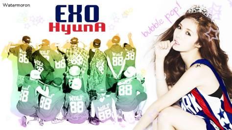 exo and hyuna